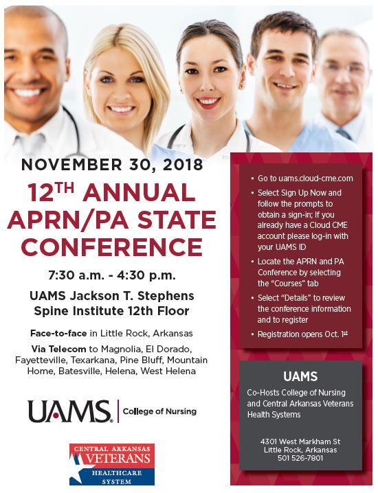APRN and PA Conference - University of Arkansas for Medical Sciences