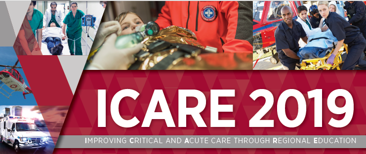 2019 ICARE: Improving Critical and Acute Care through Regional Education Banner